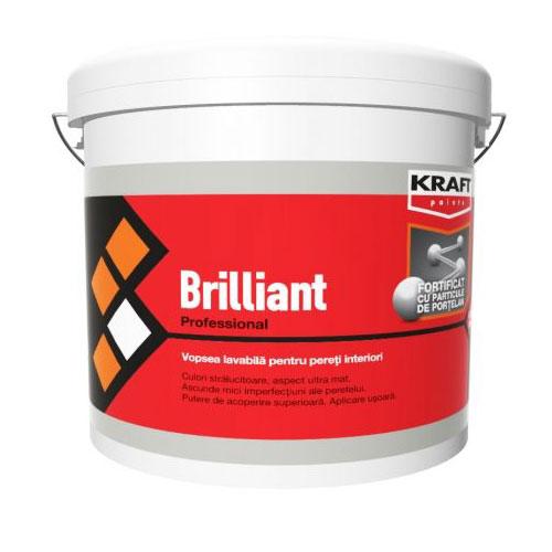 Tencuiala Decorativa Kraft.Kraft Brilliant Cu Portelan 15l Vopsea Lavabila Kraft Paints